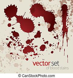 Splattered blood stains, set 7 - Splattered blood stains,...