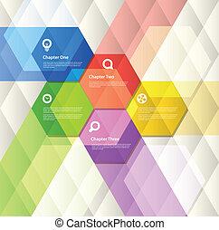 Extracto, geométrico, diseño, plantilla
