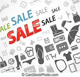 Time to shopping Sale icons