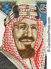 Abdullah of Saudi Arabia (born 1924) on 20 Riyals 2010...
