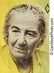 Golda Meir (1898-1978) on 10 New Sheqalim 1992 Banknote from...