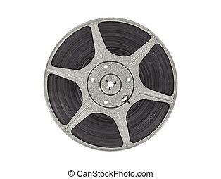 Vintage Movie Reel - Vintage film movie reel isolated with...