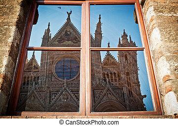 reflexión, Duomo, Siena