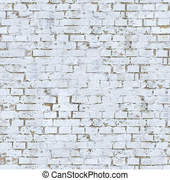White Brick Wall Texture. - Old White Brick Wall. Seamless...