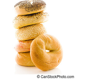 Fresh bagels - A variety of delicious, freshly baked bagels.