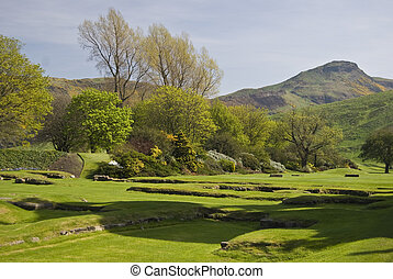 Arthur\\\'s Seat - view of the Arthur\\\'s seat from...
