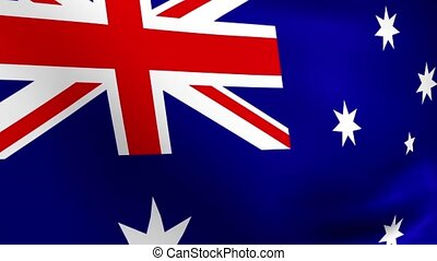 Rippling Australian Flag Loop - Perfectly seamless loop...