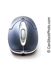 Wireless Mouse - A wireless mouse isolated on white...