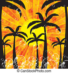 Summer tropical holiday background