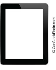 Business Tablet - Black Touch Screen Tablet Isolated On...