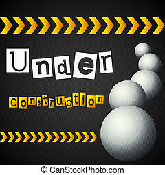 yellow lines with under construction text vector