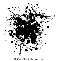 big blob splat - Black and white ink splat with room to add...