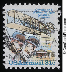 75th Anniversary of First Powered Flight - A stamp printed...