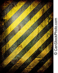 Weathered warning - warning grunge background with room to...