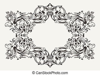 Old Antique High Ornate Frame