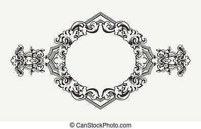 High Ornate Old Romb Frame