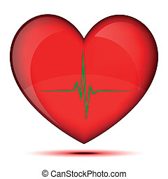 Healthy glowing heart