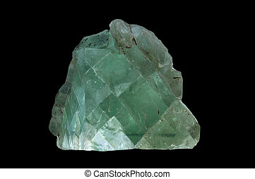 grande, cristal, fluorita
