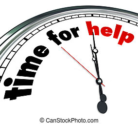Time for Help Clock Countdown Fundraiser Charity - The words...