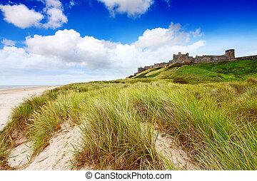 Bamburgh Castle, Northumberland, England UK
