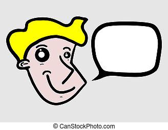 Talk cartoon - Creative design of talk cartoon