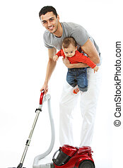 Baby and Father - Housework