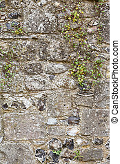 Old stone wall closeup from an ancient medieval castle