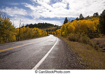 Mountain road 3 - Traveling through the mountains with the...