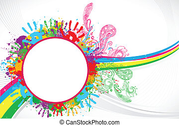 Holi Background - illustration of holi background with hand...