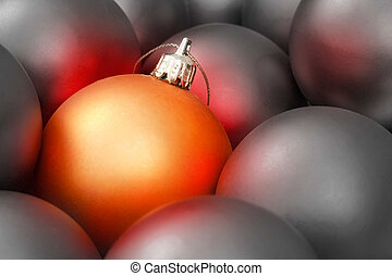 Christmas design - Gold christmas bauble amongst lots of...