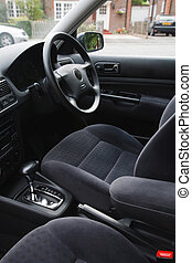 Car interior - Interior of an european car with automatic...