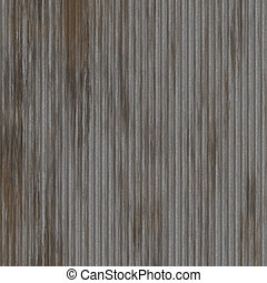 Corrugated metal surface with corrosion seamless texture