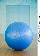 Swiss ball closeup - Closeup of swiss ball in a fitness...