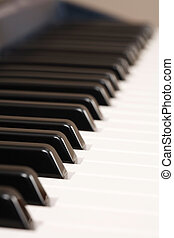 Musical instrument - Closeup of the keys on an electronic...