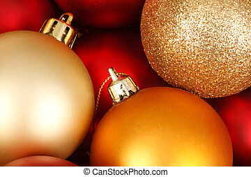 Christmas baubles - Colorful christmas baubles in red and...