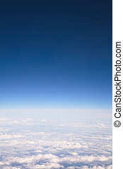 View above clouds - Aerial view of clouds and sky with...