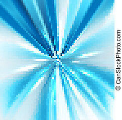 abstract swirl bright blue colorful rays vector design