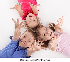 Children - Happy children isolated on white
