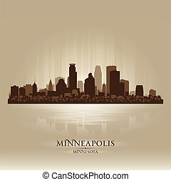Minneapolis Minnesota skyline city silhouette