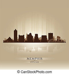 Memphis Tennessee skyline city silhouette