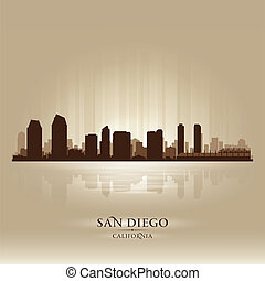 San Diego California skyline city silhouette