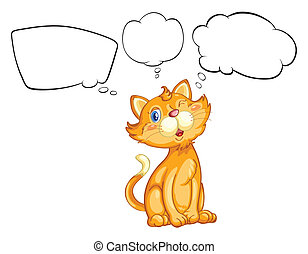 A cat blinking his eye - Illustration of a cat blinking his...