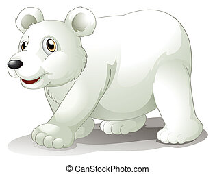 A big white bear - Illustration of a big white bear on a...