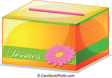 A colorful tissue box - Illustration of a colorful tissue...