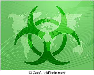 Biohazard sign, warning alert for hazardous bio materials
