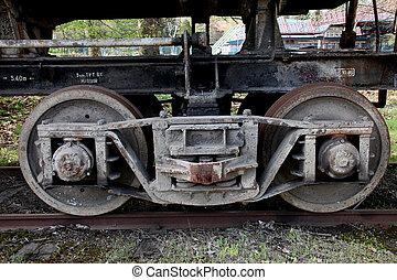 The old railway wheels