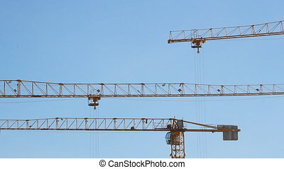 Lifting construction crane construction site