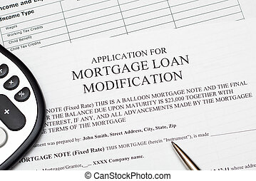 Mortgage Loan Modification - Application for mortgage loan...