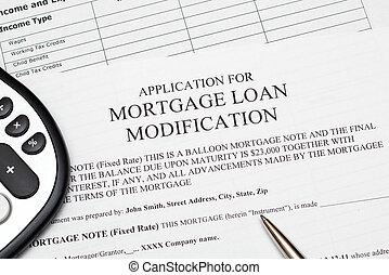 Mortgage Loan Modification - Application for mortgage loan...