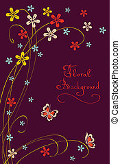 Cute Floral Background. Modern Vector Card for different Events